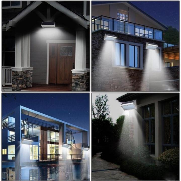 Licer Led Solar Microwave Radar Smart Sensor Light Yard Lamp 36 Leds Aluminum Alloy White Light Silver 10w
