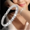 Women Full Rhinestone Crystal Alloy Bracelet Ladies Decor Exquisite Hand Chain silver 16.5cm