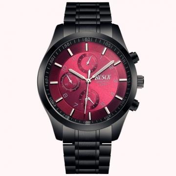 [Valentine's Gift] Bosck Men Brand Casual Sports Watch Stainless Steel Waterproof Male Quartz Watch Red one size