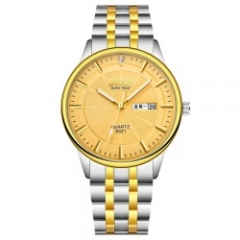 bosck men brand fashion classic business quartz watch gold