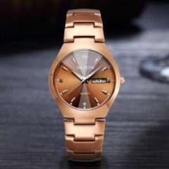 wlisth men brand luxury watch alloy double calendar waterproof lovers quartz watches