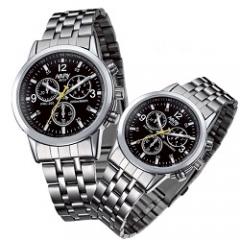 Nary Brand Fashion Classic Couple Watch Black