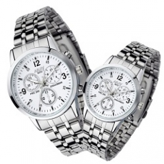 Nary Brand Fashion Classic Couple Watch White