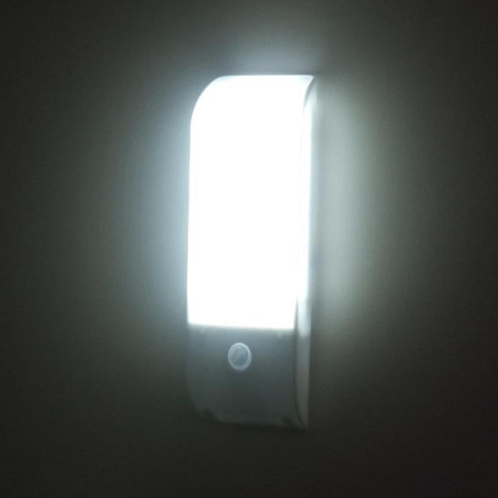 Licer Led Body Motion Sensor Night Light 12 Leds Usb Rechargeable White Light White 12cm 0.8w