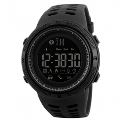 Skmei Fashion Sports Wristwatch Bluetooth Pedometer Calories Chronograph Classic Smart Digital Watch Black Normal