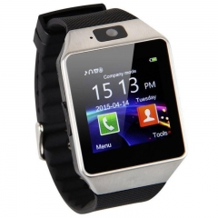 Wearable Smart Watch DZ09 SIM/TF Bluetooth Pedometer Multifunction Digital WristWatch for Android Silver Normal