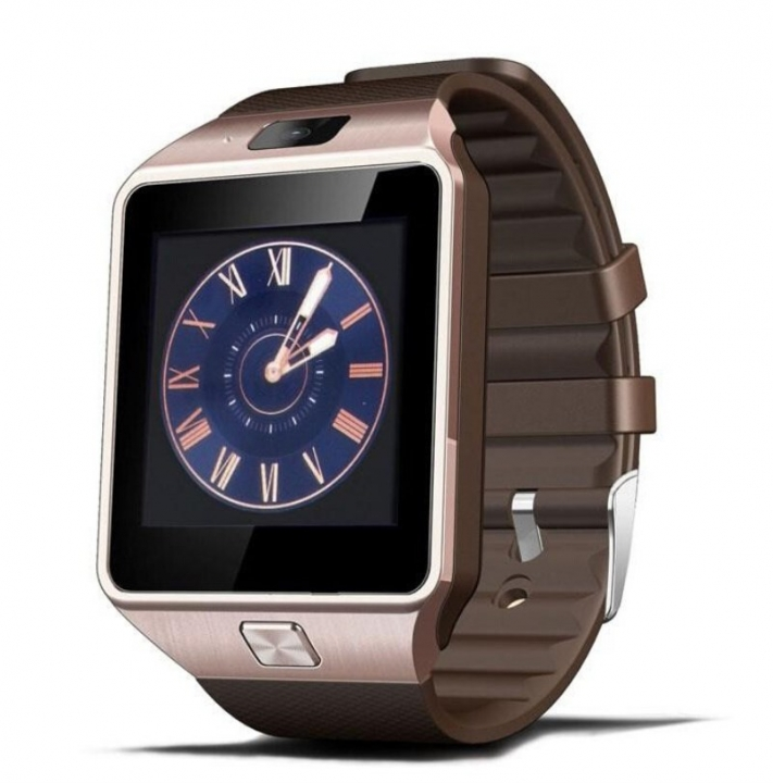 Wearable Smart Watch DZ09 SIM/TF Bluetooth Pedometer Multifunction Digital WristWatch for Android Gold Normal