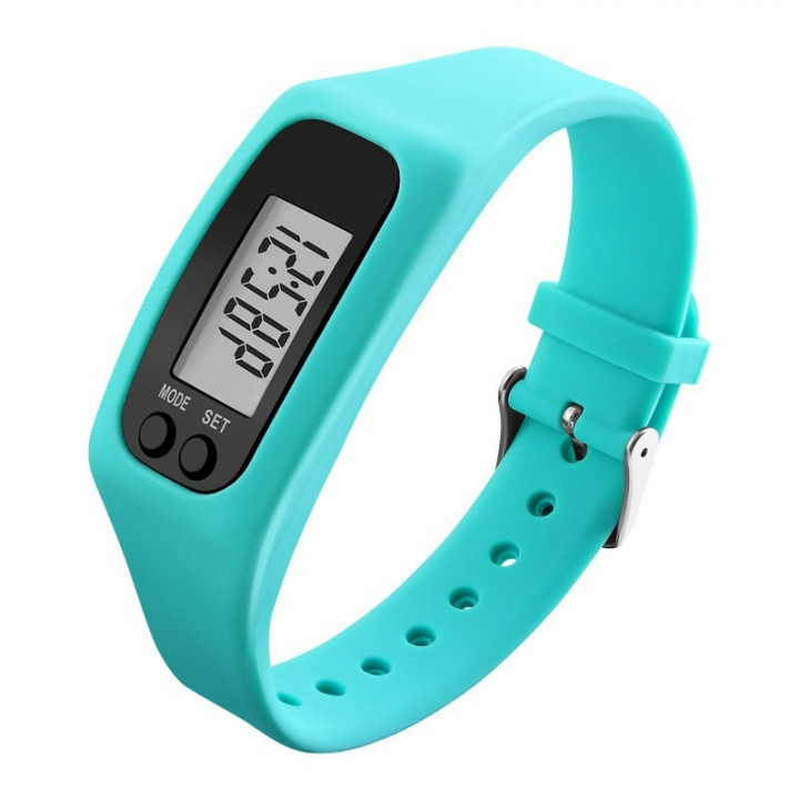 Licer Fashion Sports Bracelet Pedometer Calorie Sport Mileage Digital Tracker LED Fitness Wristwatch Blue Normal