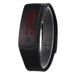 Licer Led Fashion Digital Bracelet Sport Silicone Strap Wristwatch Date Time Colorful Watch Black One Size