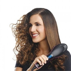 Professional Electric Fast Straight Hair Comb With LCD Display Straightening Hair Dryer Brush Black 27.5cm*7cm*4cm