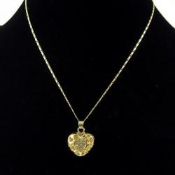 New Korean Necklace Fashion Heart-shaped Love Jewelry Peach Heart Hollowed Women Rhinestone Necklace