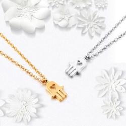 Fatima's Hand Mini Palm Amulet Women Necklace