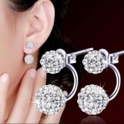 Women Fashion Anti-allergy Silver Plated Earrings