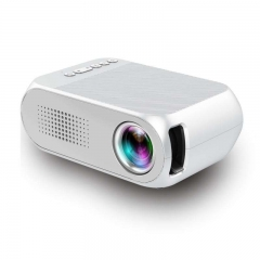 Led Mini Protable Multimedia Home Projector Support HDMI USB TF Power Bank Supply 1080P Projection White
