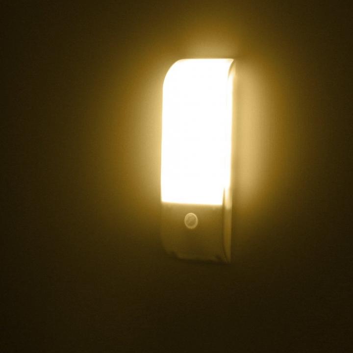 Licer Led Body Motion Sensor Night Light 12 Leds Usb Rechargeable Warm White Light White 12cm 0.8w