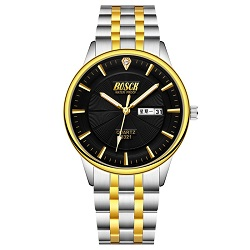 bosck men brand fashion classic business quartz watch Black