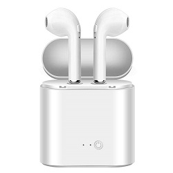 Licer Portable Wireless Business Bluetooth Earphone with Charging Box Stereo Earbuds White