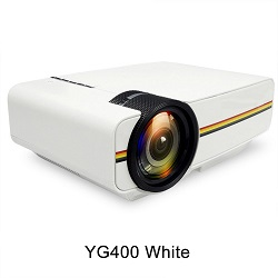 Led Mini Protable Multimedia Projector Home Theatre Support 1080P YG400 White