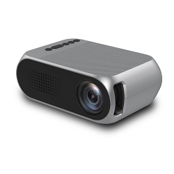 Led Mini Protable Multimedia Projector Home Cinema Wireless Theater Projecting Silver Grey
