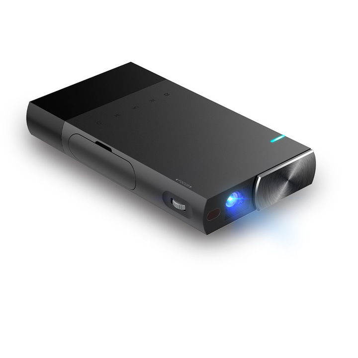 Licer Mini Protable Rechargeable HD Smart Projector DLP Wired Sync Display Multimedia Projector Black 14.7*8.2*2.4cm