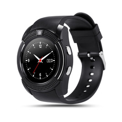 Licer AirGear V8 Smart Watch Bluetooth Pedometer Camera Luminous Support TF SIM Card Smartwatch Black Normal