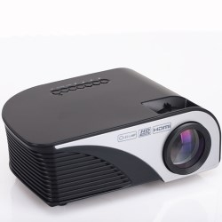 Led Mini Protable Wireless Sync Display Home Projector Black