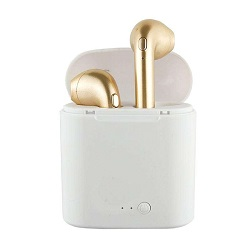 Licer Portable Wireless Business Bluetooth Earphone with Charging Box Stereo Earbuds Gold