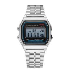 Unisex Fashion Vintage Electronic Watch Women Men Girl Boy Student Classic Digital Wristwatch White Normal
