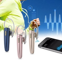Licer New Style Wireless Business Bluetooth Earphone Blue