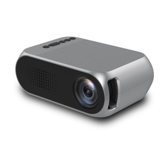 Led Mini Protable Multimedia Home Projector Home Cinema Projecting Support HDMI USB TF Interface Silver Grey