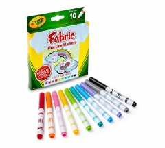 CRAYOLA 58-8626 FINE LINE FABRIC 10CT MARKERS (10MKR0009) multicolors .