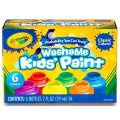 CRAYOLA 54-1204 6CT ASST WASHABLE KIDS PAINT (10PNT0002) multicolors .
