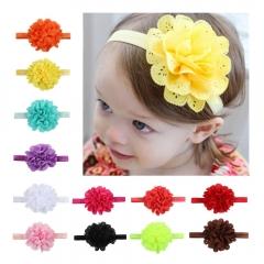Cestbella 1pcs Baby Kids Hairband Accessories Hair Clips Dance Headdress Flower purple 10*19cm