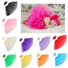 Felizamor Blue Baby Child Hair Accessories Hairband Headdress Flower Tutu Dress Set pink per picture