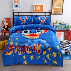 Felizamor Warm Blue Floral Cotton 4pcs Bedding Set Duvet Cover Pillow Case Bed Sheet for Child Kids per picture normal