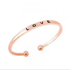 Alice Brand LOVE Alphabet Gold Plated Luxury Bracelet gold 6.5*5cm