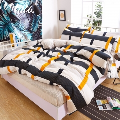 Pure Cotton Pack Of 4/Set Duvet Cover Bedsheets Pillowcase Cross Bedding Comforter as picture 5*6