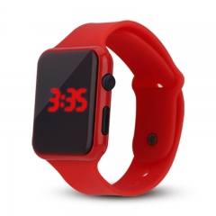 Square LED Watch Fashion Smart Watch Student Electronic Water Proof Watch red 200-280mm