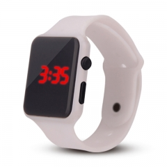 Square LED Watch Fashion Smart Watch Student Electronic Water Proof Watch white 200-280mm