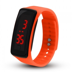 LED Digital Bracelet Watch Water Proof Wristwatch for Men Women Children Gift Smart Watch orange 200-280mm