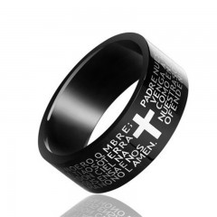 Crucifix Titanium Steel King Rings Mens Fashion Jewelry Gift As Picture  Onesize