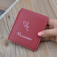 Women's Short Button Wallet Hot Sale Women's Fashion Bags red onesize