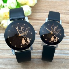 Pack Of 2/Set Couples Watch Back View Casual Quartz Watch Couple's Gift as picture onesize