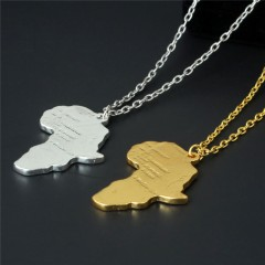 Africa Heart Couples Necklace Mens Fashion Jewelry Gift As Picture  Onesize