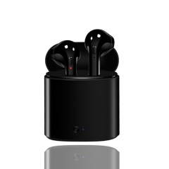 Earpods Double Ear Bluetooth V4.0 Earphone With Battery Box Portable Wireless Earbuds Headset black