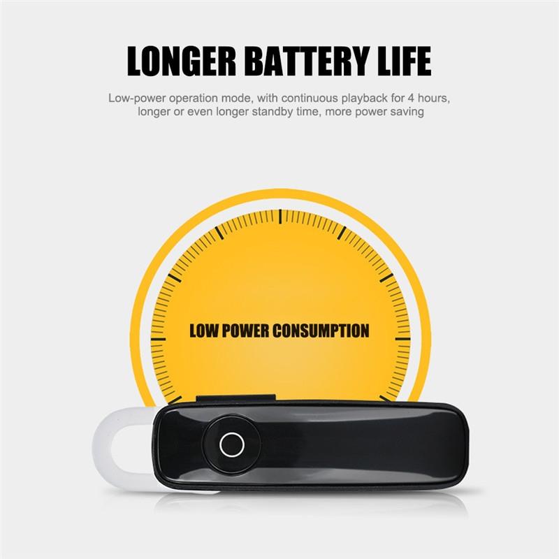 Earphone Bluetooth 4.0 Wireless Sports Headset Bluetooth Bass Rechargeable Earphone With MIC black 6
