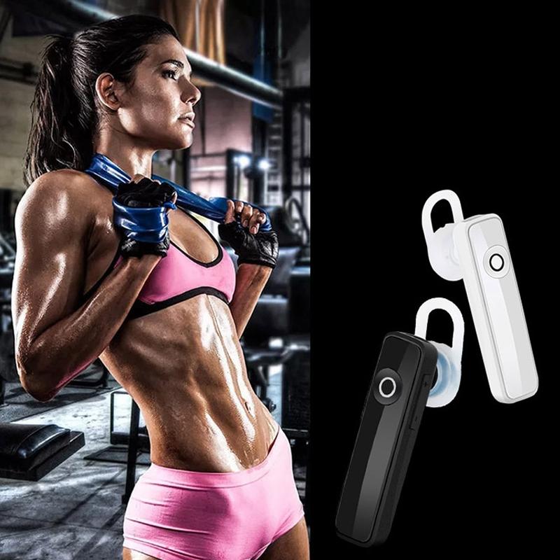 Earphone Bluetooth 4.0 Wireless Sports Headset Bluetooth Bass Rechargeable Earphone With MIC black 2