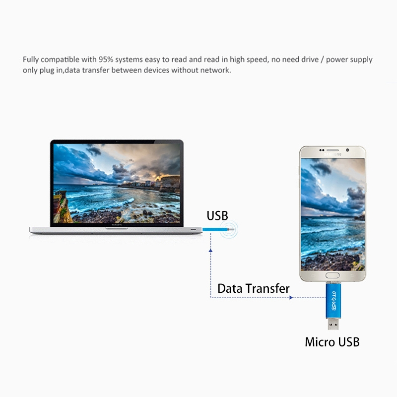 32GB 2 In 1 Micro USB OTG USB Flash Card High Speed Pen Drive Phone Expend Memory Card gold micro usb otg 32gb expend flash 2
