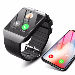 Smart Watch Bluetooth Camera Smartwatch Android Phone Call 2G GSM SIM TF Card for iPhone Samsung silver onesize
