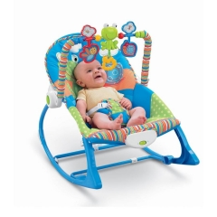 Melody and Vibrating Baby Rocker - Blue blue one size